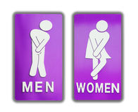 Signs female and male bathroom on white background. Stock Image