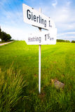 Signs in the field Stock Photo