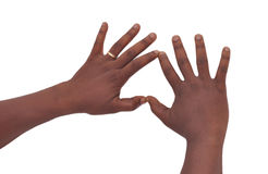 Signs of the fingers Royalty Free Stock Images