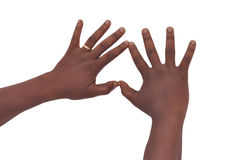 Signs of the fingers Royalty Free Stock Photos