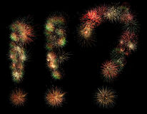 Signs fireworks. Admiration and exclamation marks made of fireworks Stock Photo