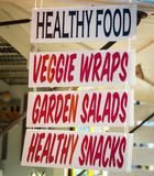 Signs for food Royalty Free Stock Photo