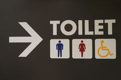 Signs For Restroom Stock Photo