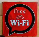 Signs free wifi Stock Images