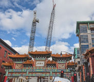 Signs of Growth in Chinatown--Washington, D.C. Royalty Free Stock Images
