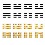 Signs for Guessing on the coins on the Book of Changes,  Yijing Symbols Royalty Free Stock Photography