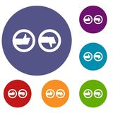 Signs hand up and down icons set Royalty Free Stock Photography