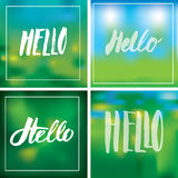 Signs HELLO Stock Photo