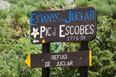 Signs for the Hikers Royalty Free Stock Photo