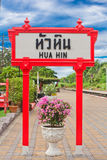 Signs, Hua -Hin Railway Station. Royalty Free Stock Image