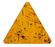 Signs icon orange triangular Stock Images