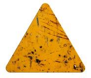 Signs icon orange triangular Stock Images