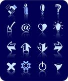 Signs icons Royalty Free Stock Photography