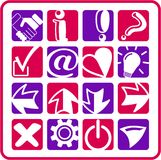 Signs icons Stock Photography