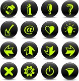 Signs icons Royalty Free Stock Image