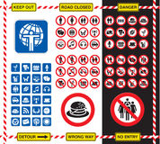 Signs and icons Stock Photography