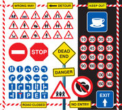 Signs and icons Royalty Free Stock Photo