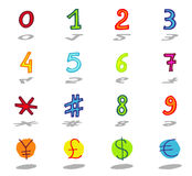 signs icons set Stock Images