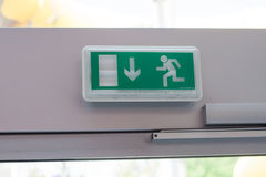 Signs indicating emergency exit Royalty Free Stock Photos