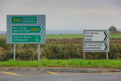 Signs in Ireland, North Europe Royalty Free Stock Image