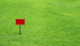 Signs on the lawn Royalty Free Stock Photos