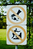 Signs litter Stock Photography