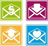 Signs with mails3 Royalty Free Stock Image