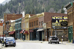Signs at main street Deadwood Royalty Free Stock Photography