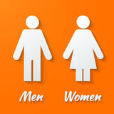 Signs - male, female, wc Stock Photography