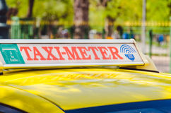 Signs metered taxi Royalty Free Stock Image
