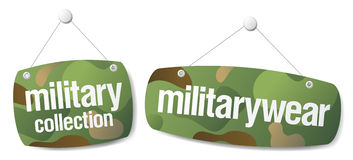 Signs for military collection Royalty Free Stock Images