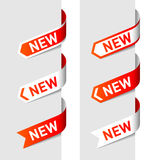 Signs New on the arrow vector illustration