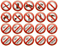 Signs NO Stock Photography