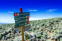 Signs of the Norwegian Trekking Association Royalty Free Stock Images