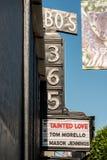 Old cinema sign in San Francisco, California, USA royalty free stock photography