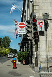 Signs in Old Quebec Royalty Free Stock Photography