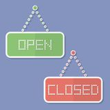 Signs of Open and Closed Stock Photos