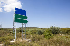 Signs outside the city. Blank signs outside the city Royalty Free Stock Photography