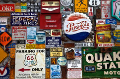 Signs outside Route 66 diner in Albuquerque, NM Royalty Free Stock Photography