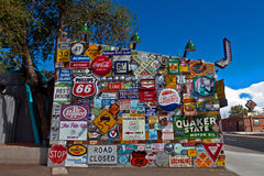 Signs outside Route 66 diner in Albuquerque, NM Stock Photography