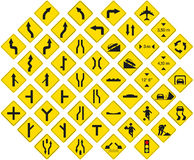 Signs pack 3. Road signs pack 3 (warning signs Stock Photos