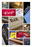 Signs and panels Stock Photo