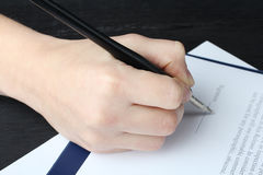 Signs papers Stock Photo