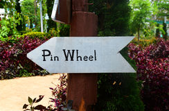 Signs pin wheel stock photo