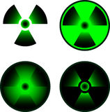 Signs of radiation Stock Photo