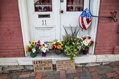 Signs at The Red Hen restaurant. Signs left by supporters of The Red Hen restaurant in Lexington , Virginia, where White House Press secretary Sarah Huckabee Royalty Free Stock Photos