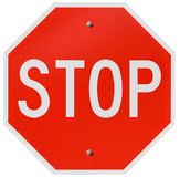 Signs: Red Stop Sign Royalty Free Stock Images
