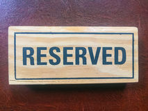 Signs Reservation on the table. Stock Images