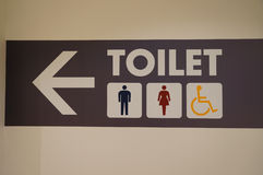 Signs for restroom Stock Images