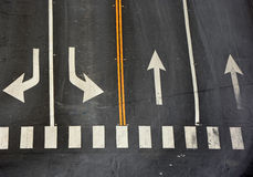 Signs on the road Royalty Free Stock Photos